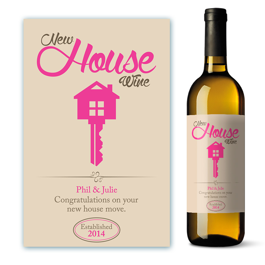 personalised new home wine label gift ebay