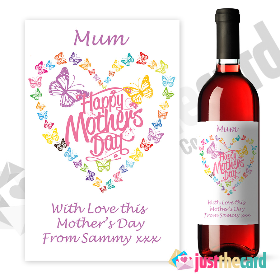 This is a graphic of Transformative Mother's Day Wine Labels