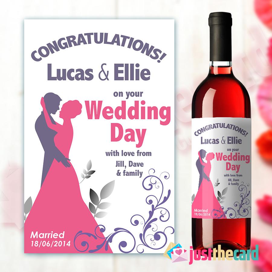 Wedding Congratulations Personalised Wine Label Gift | eBay