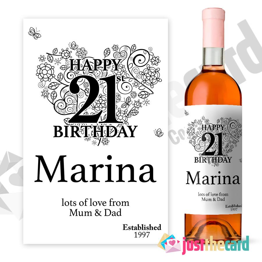 21st Birthday Wine Label Personalised Gift EBay